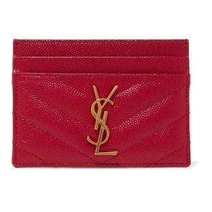 🔥Saint Laurent🔥Monogram YSL Card Case Wallet NWB